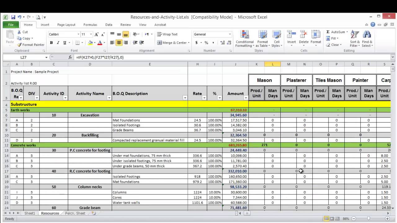 free resource allocation spreadsheet template natural
