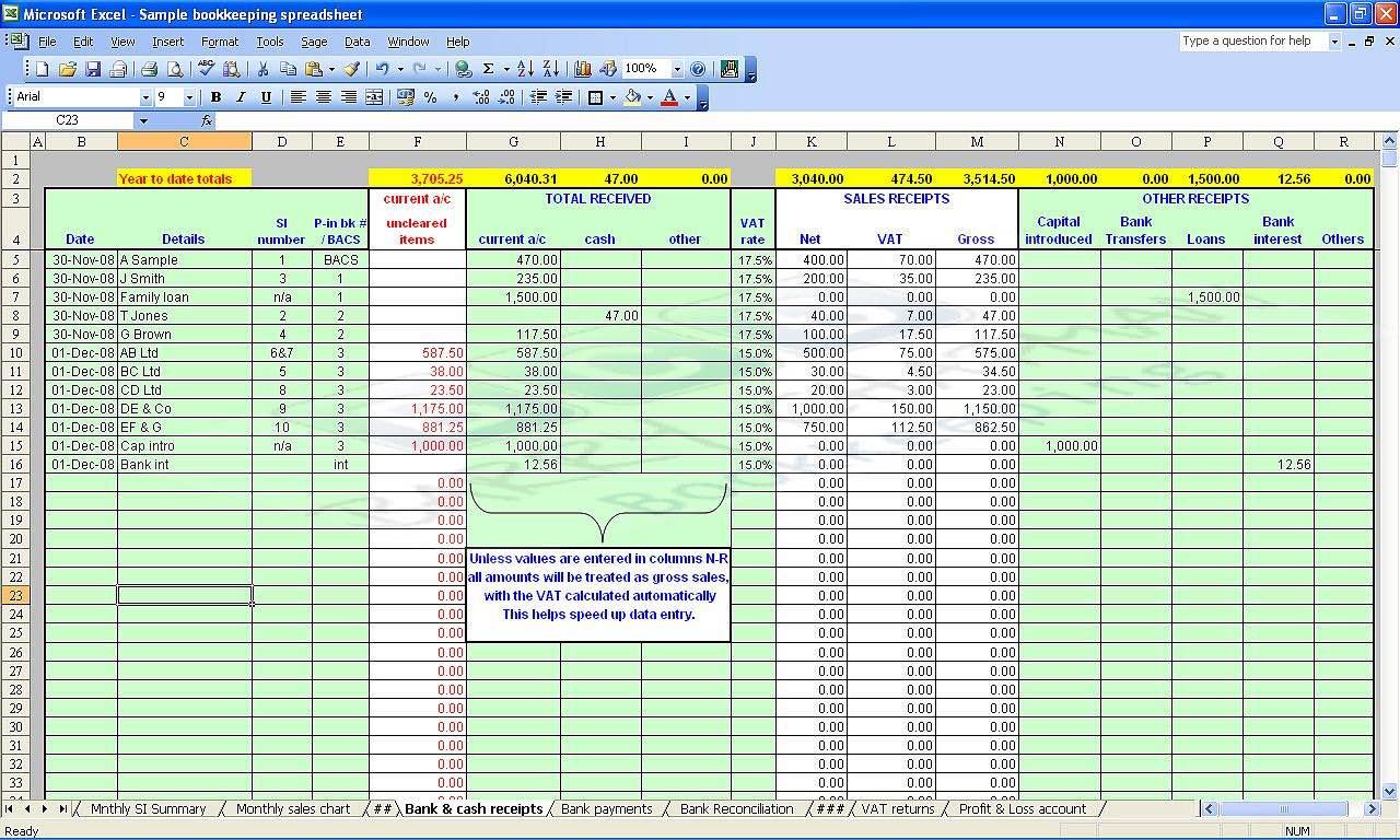 self employed expenses spreadsheet template