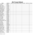 softball stat sheet printable