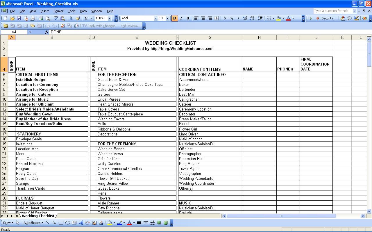 contacts spreadsheet template - wedding vendor contact list template natural buff dog