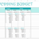 wedding venue excel spreadsheet