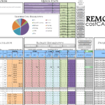 Building Construction Estimate Spreadsheet Excel Download Templates