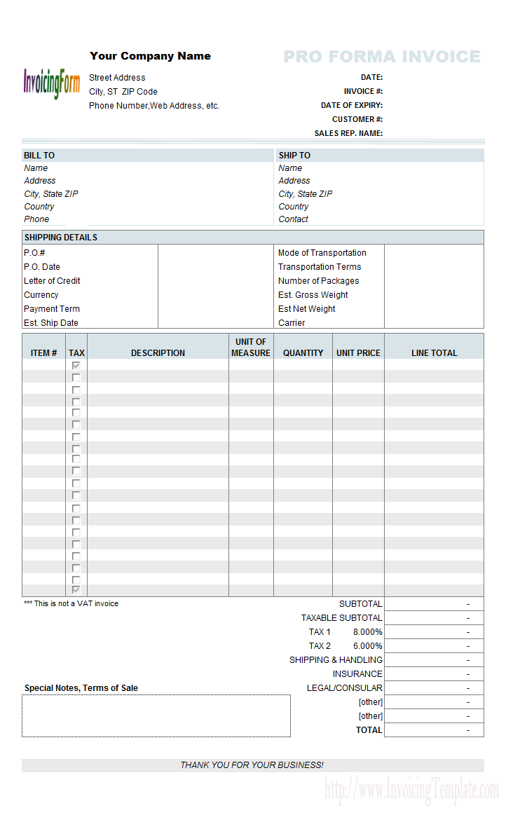 Create Invoices From Excel Spreadsheet Templates