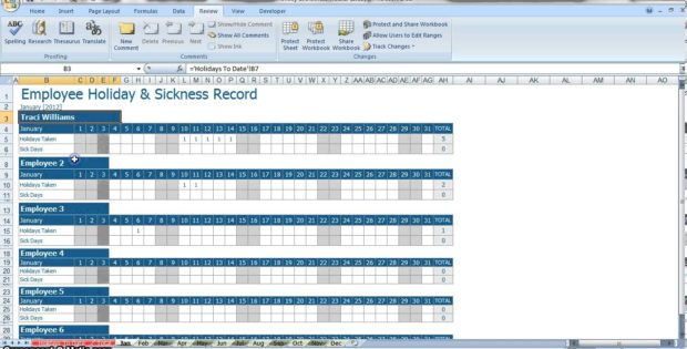 pto template excel