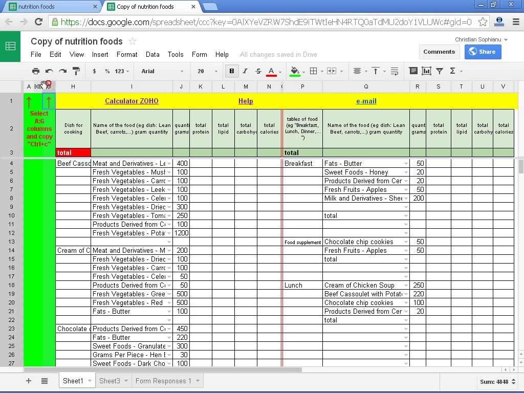 diabetes excel spreadsheet