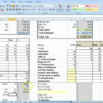 construction estimating excel templates