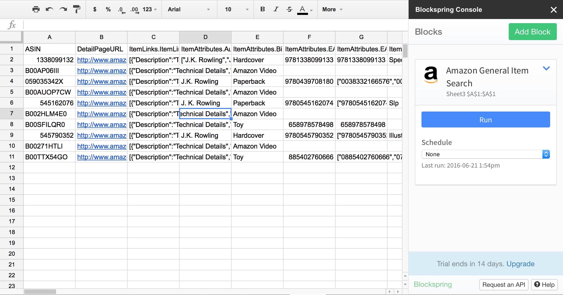 free Chrome Spreadsheet