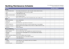 free car maintenance schedule spreadsheet