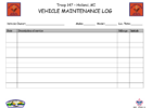 free vehicle maintenance logs templates
