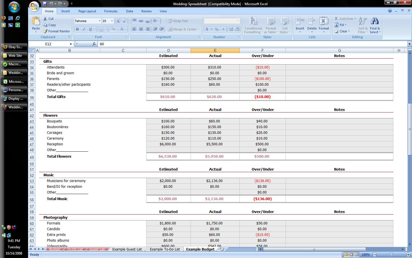 templates Budget Spreadsheet For Ipad