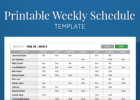 Free employee schedule template excel