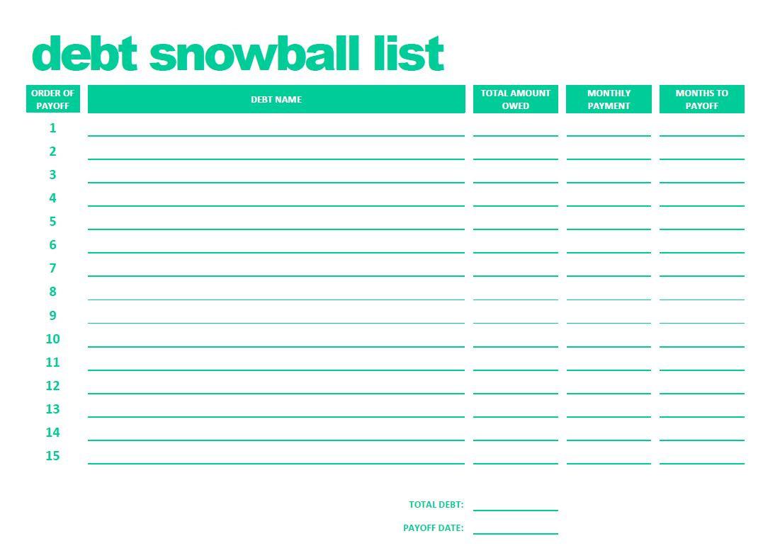debt snowball spreadsheet google docs