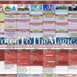 disney world day planner spreadsheet