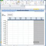 employee scheduling spreadsheet free