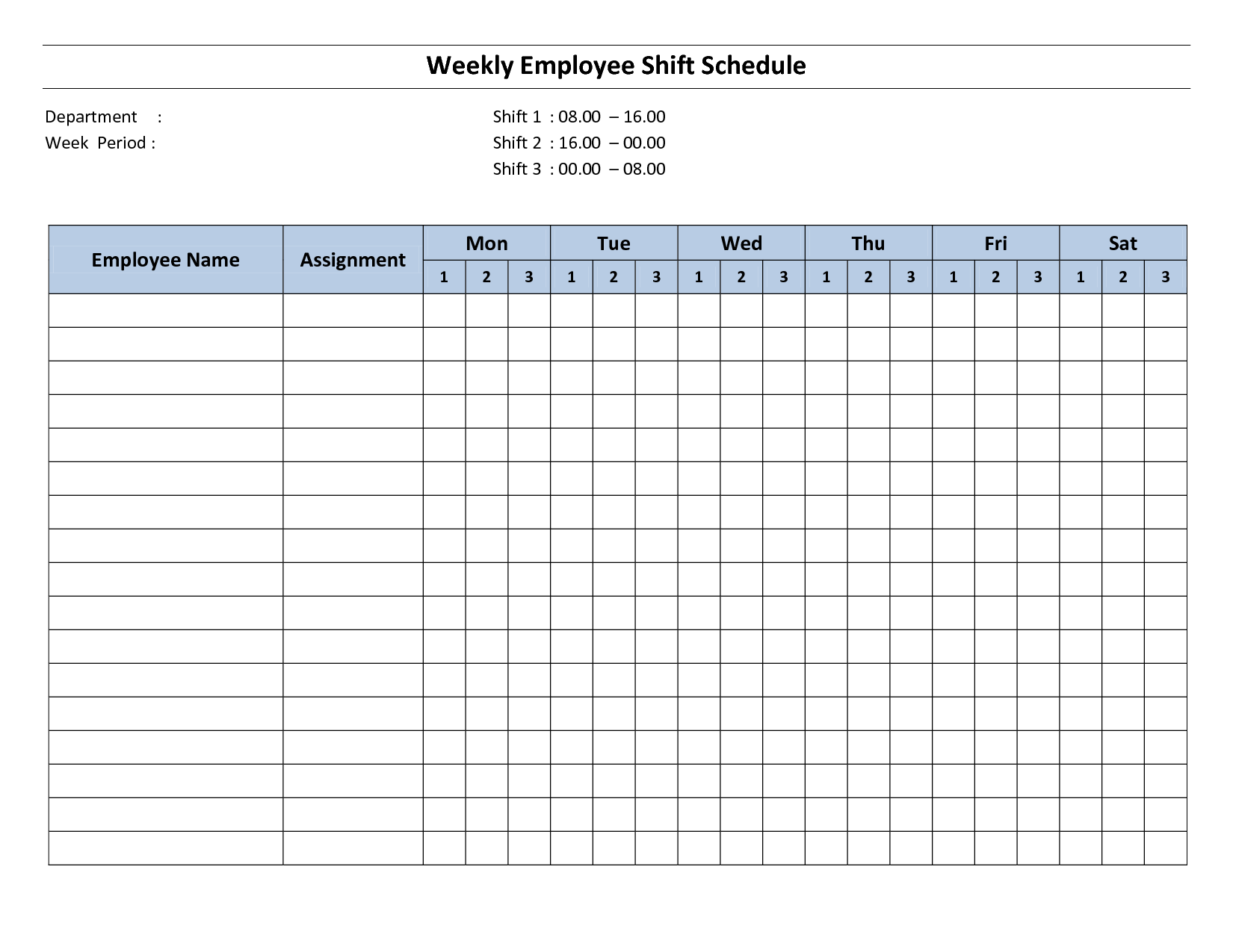 employee shift scheduling spreadsheet free