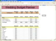 example of spreadsheet in excel templates