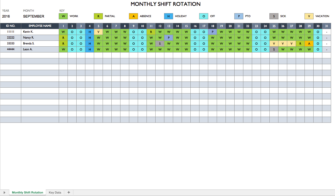 free employee schedule excel spreadsheet