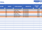 free excel spreadsheet for inventory management