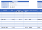 templates excel spreadsheet parts