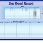 Farm Record Keeping Spreadsheets