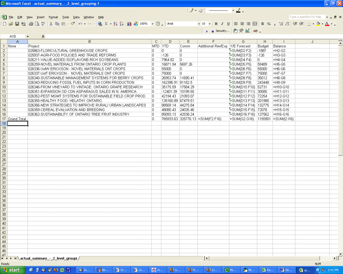 Financial Projections Excel Spreadsheet