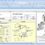 Formwork Design Spreadsheet templates