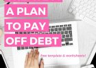 free get out of debt worksheet