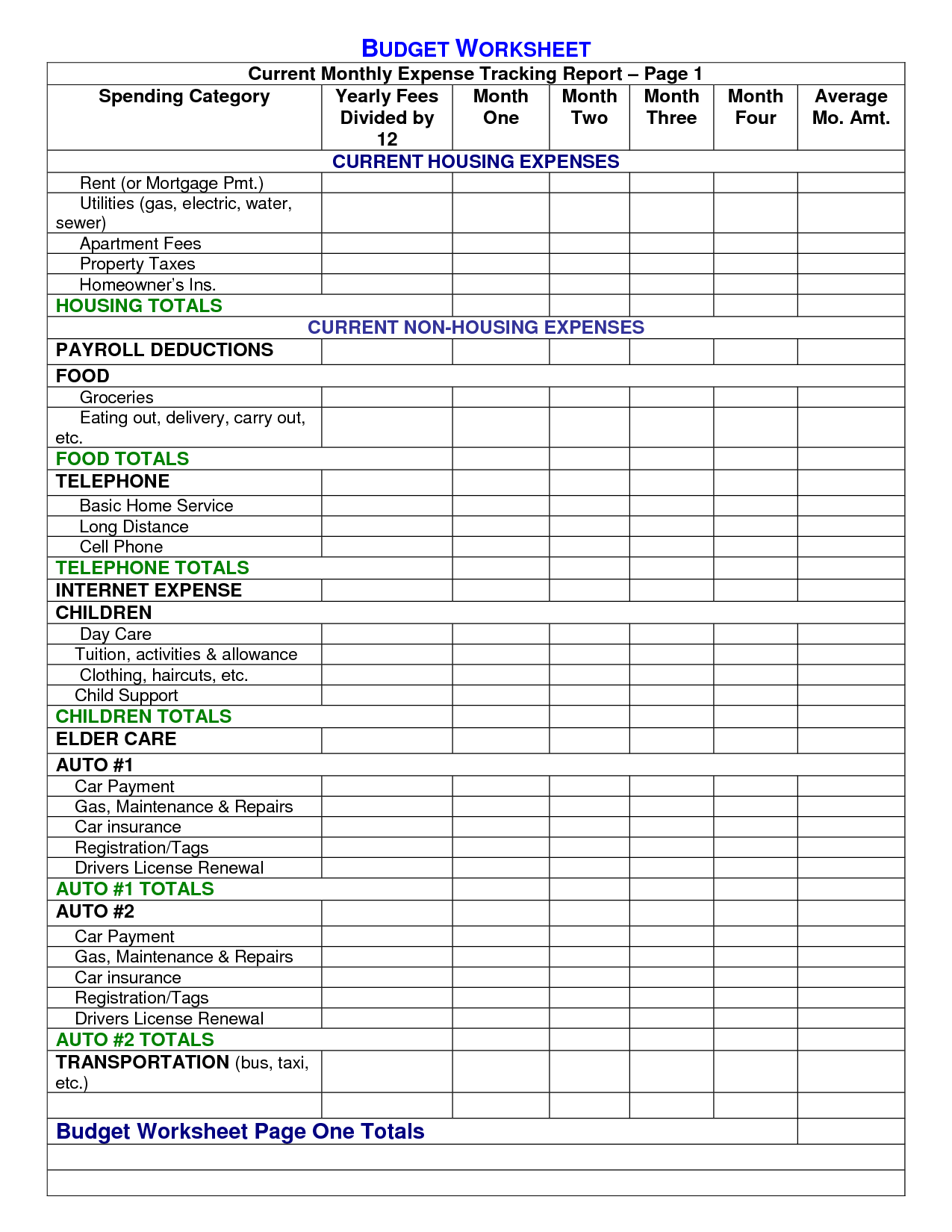 free home building budget spreadsheet