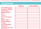 free household budget worksheet pdf