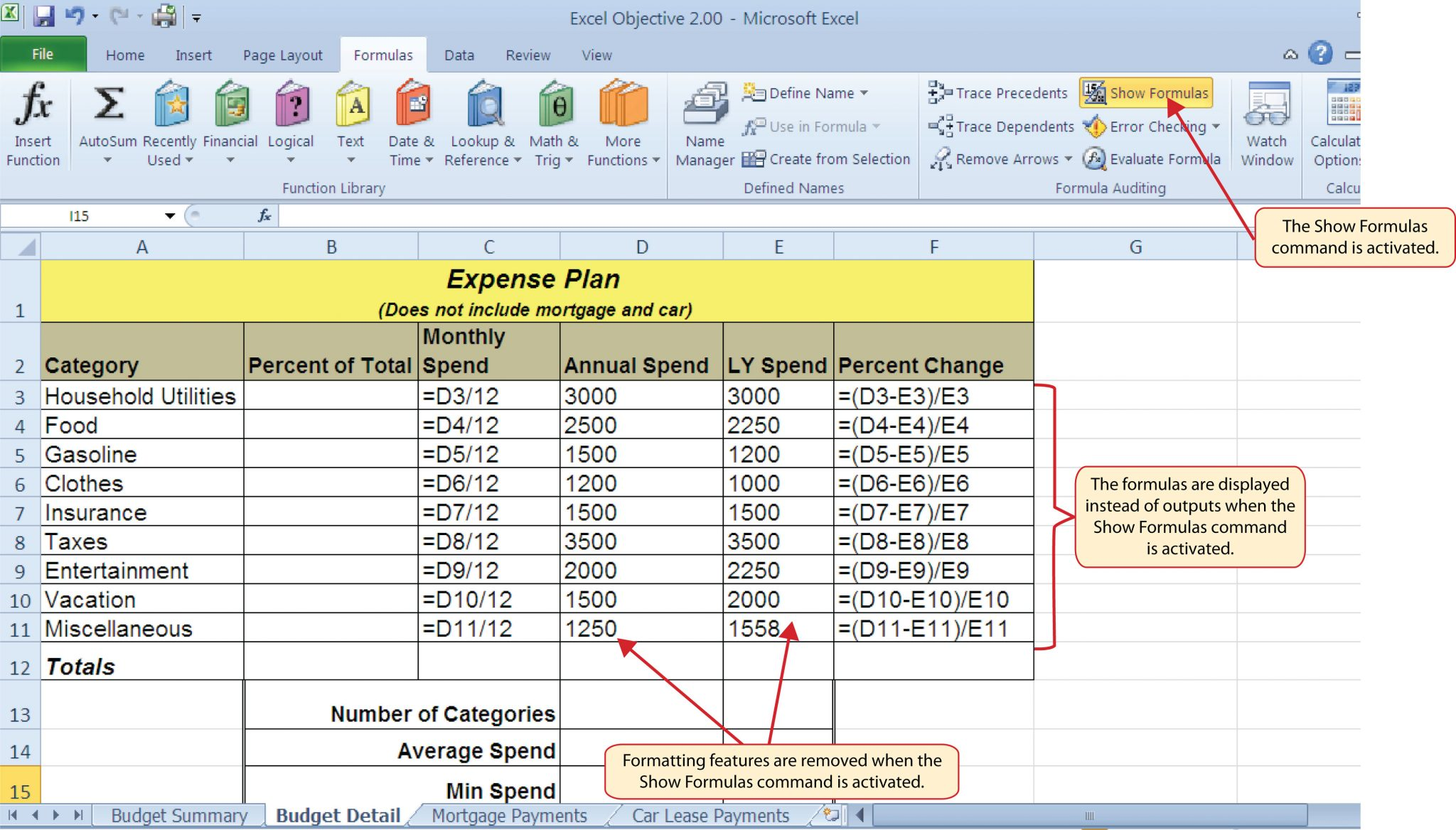 simple math formulas for excel spreadsheets
