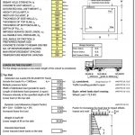 slab formwork calculation excel