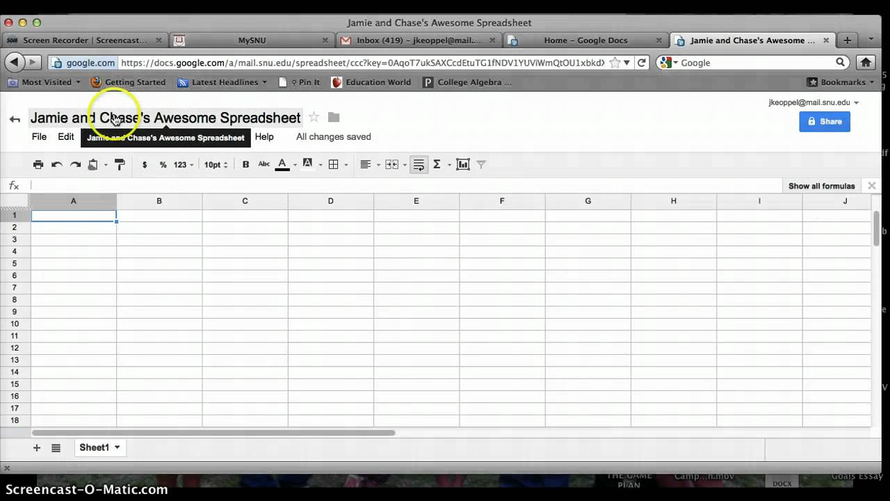 download google docs spreadsheet tutorial free templates
