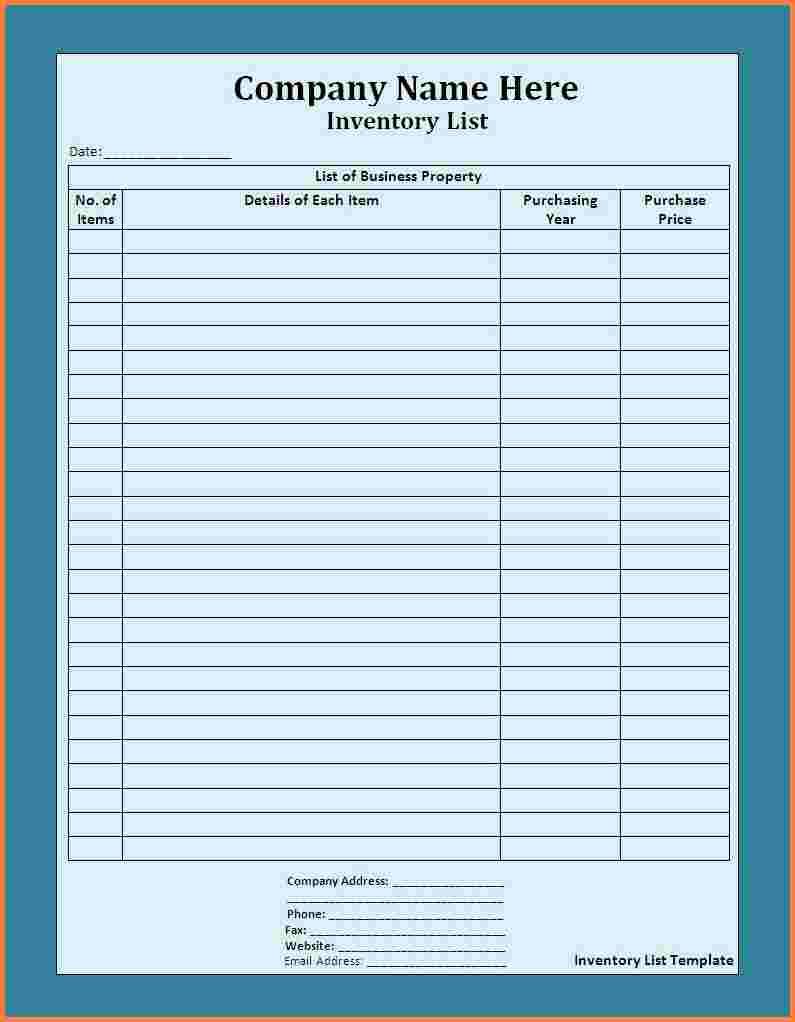 Hotel Linen Inventory Spreadsheet