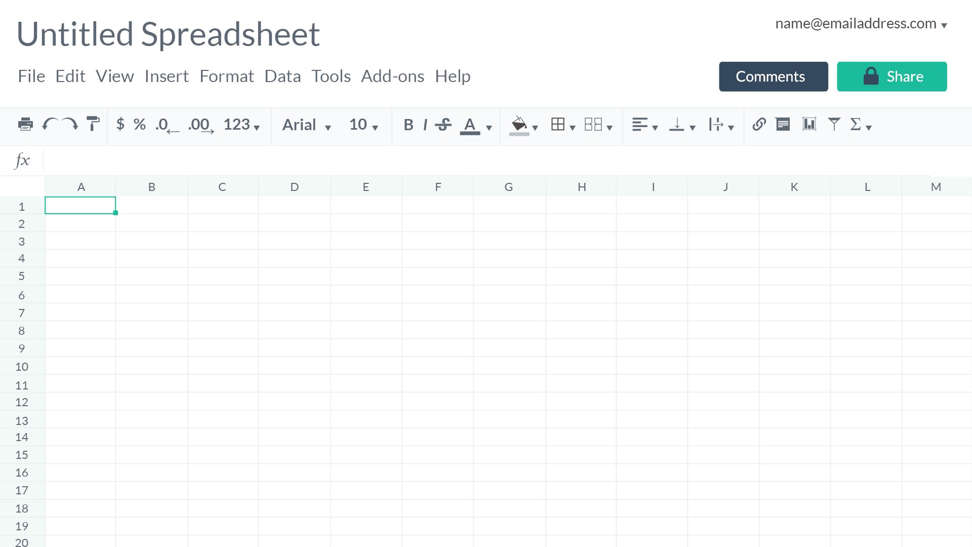 interactive spreadsheet online free
