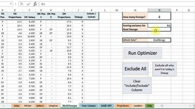 Baseball Stats Spreadsheet