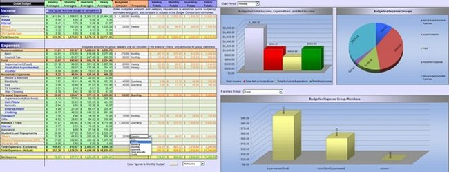 Budget Spreadsheet App