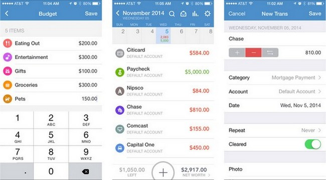 budget spreadsheet app iphone
