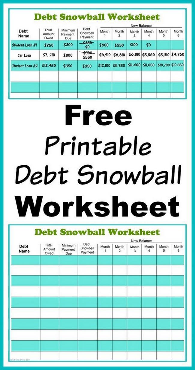 debt payoff calculator spreadsheet