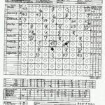 e-z baseball stat sheet