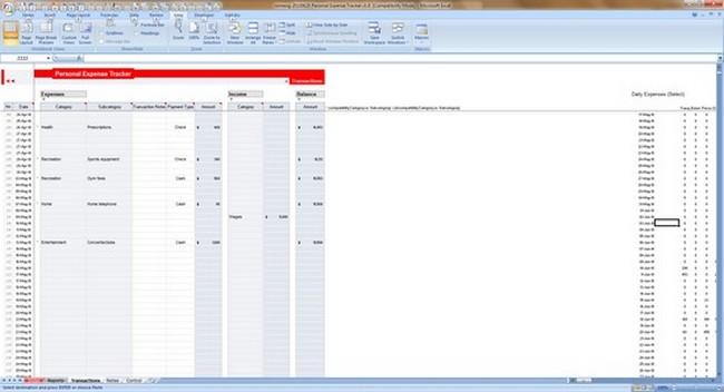 monthly budget spreadsheet ipad