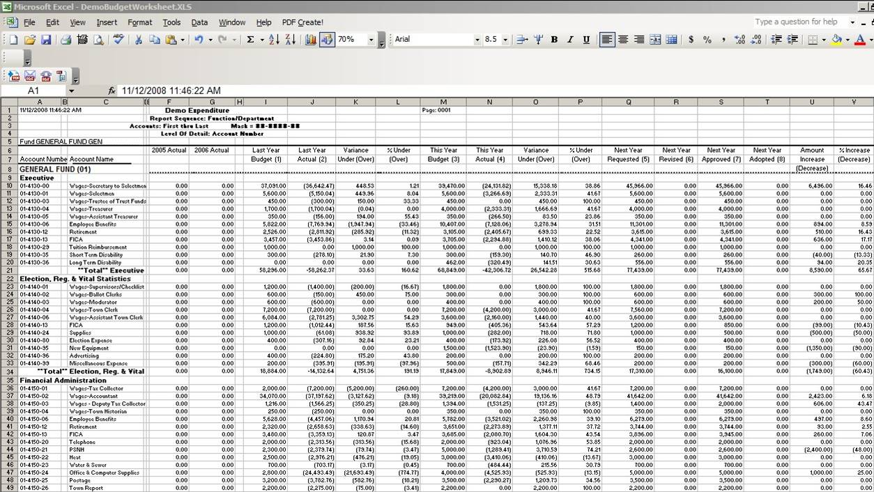 Accounting Spreadsheet Excel