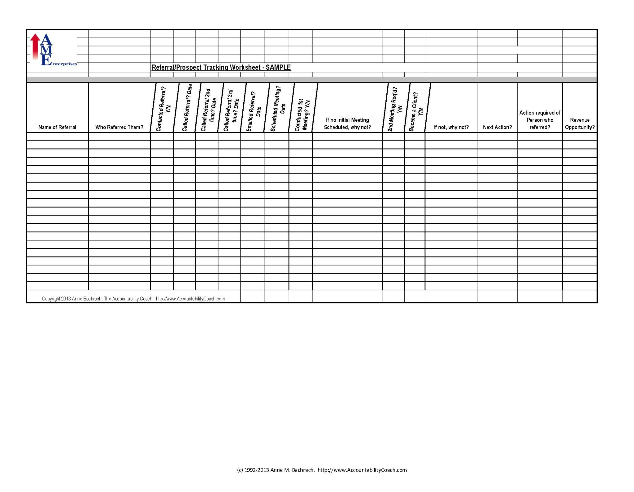 Client Tracking Spreadsheet Excel