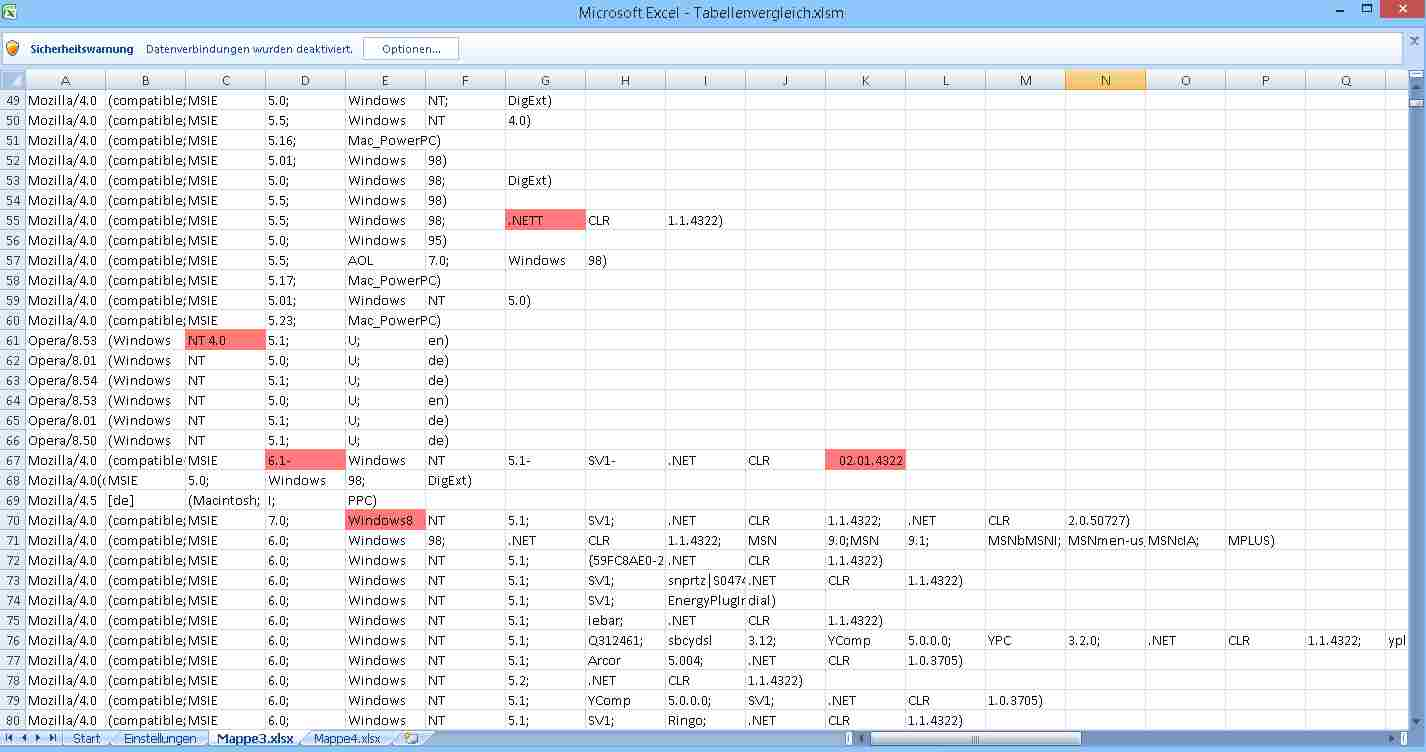 Excel Compare Tool