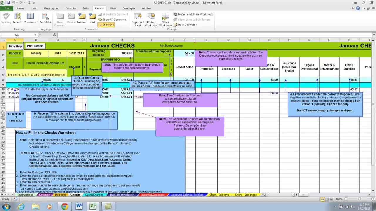 Spreadsheet Examples For Small Business
