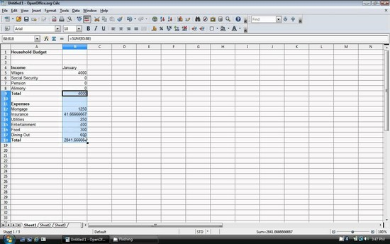 how to create a personal budget spreadsheet