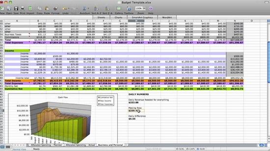how to set up a household budget spreadsheet