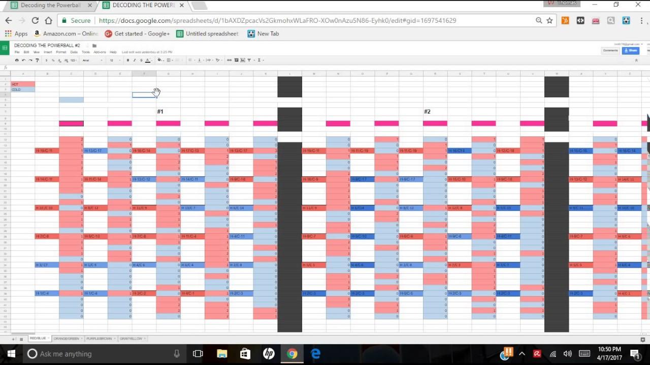 powerball pool spreadsheet