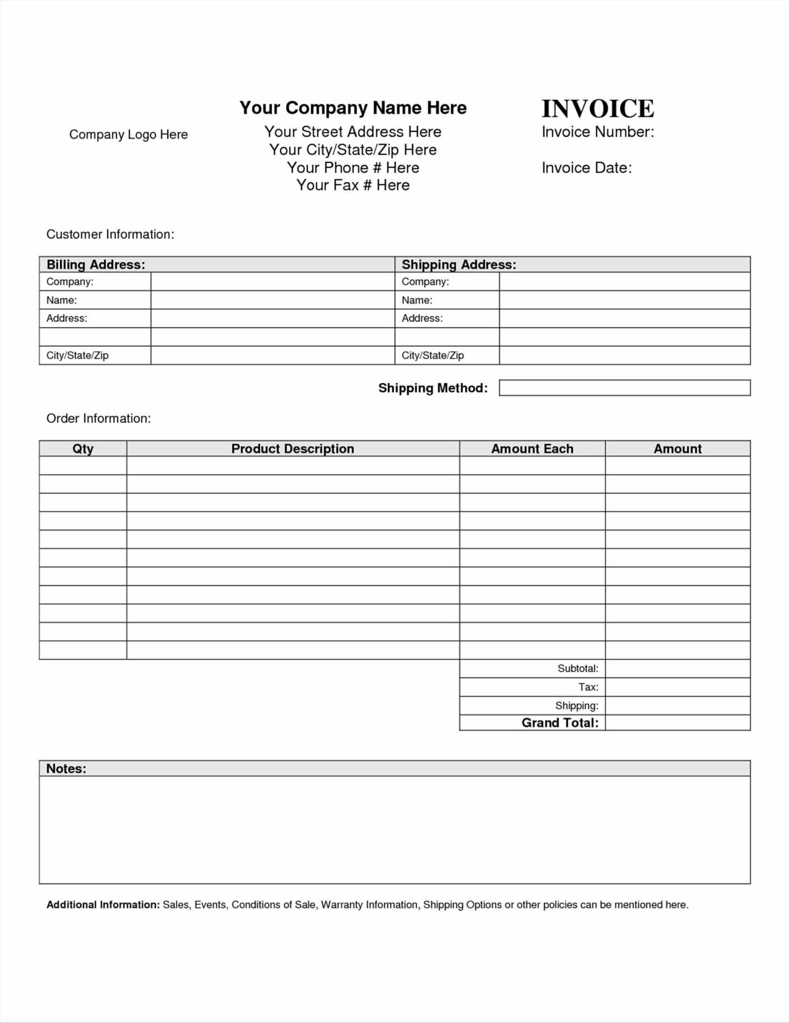 Business Income Expenditure Template