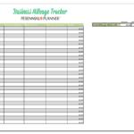 Business Mileage Spreadsheet