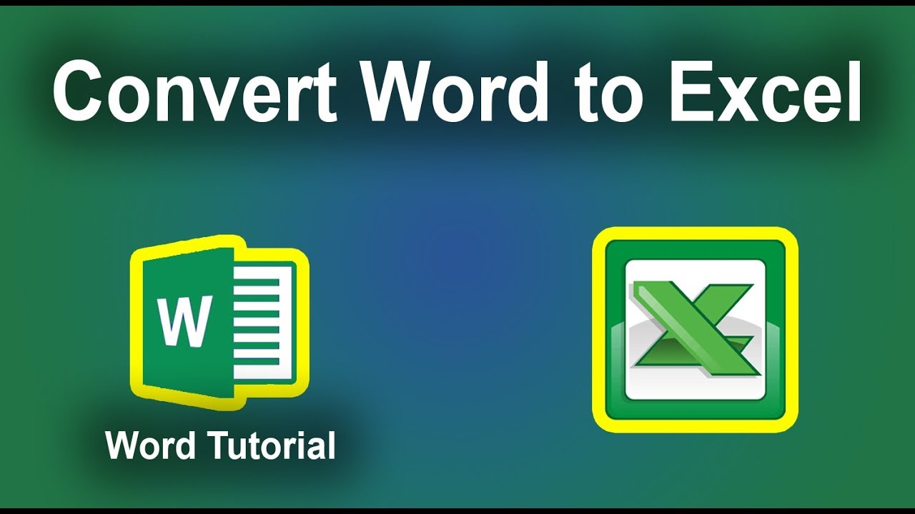 Convert Word Document To Excel Spreadsheet